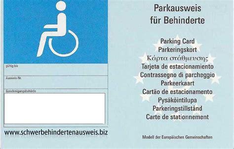 schwerbehindertenausweis g parken falschparker auf behindertenparkplatz das kannst du