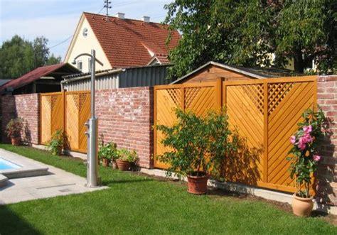 Gartenzaun Holz Weis Sichtschutz