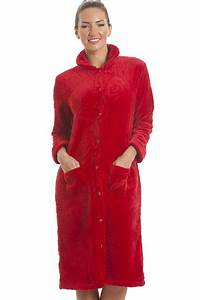 luxury supersoft red button up fleece housecoat With robe de chambre courte homme