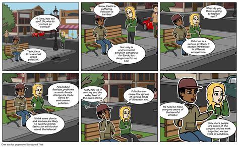 Diálogo Entre Dos Amigos Sobre Contaminación Ambiental