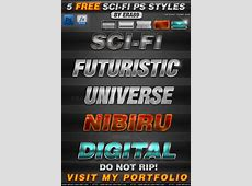 FREE 5 SciFi Photoshop Styles Text Effects by KoolGfx