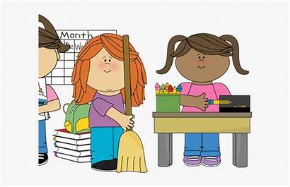 Classroom Clean Clipart Responsibility Student Individual Organized