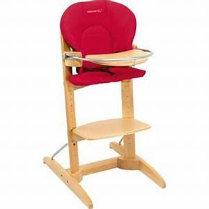 Chaise Haute Bébé Bois : bebe confort chaise haute bois woodline intense red ~ Melissatoandfro.com Idées de Décoration