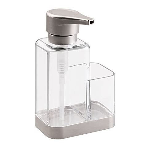 scrubber holder kitchen sink mdesign soap dispenser with sponge or scrubber holder 5090
