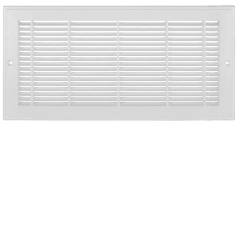 floor register filters home depot hdx 30 inch x 6 inch white plastic sidewall grille the