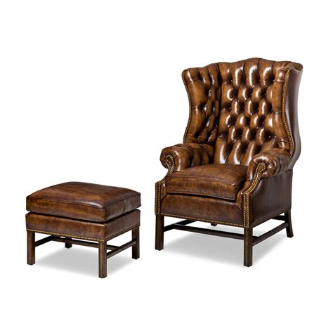 hancock and 4406 4405 summerfield chair and ottoman