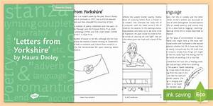 Cover Letter Structure 39 Letters From Yorkshire 39 By Maura Dooley Notes For Study