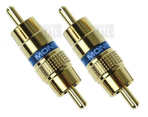Qty Monstercable Rca Audio Cable Male Adapter