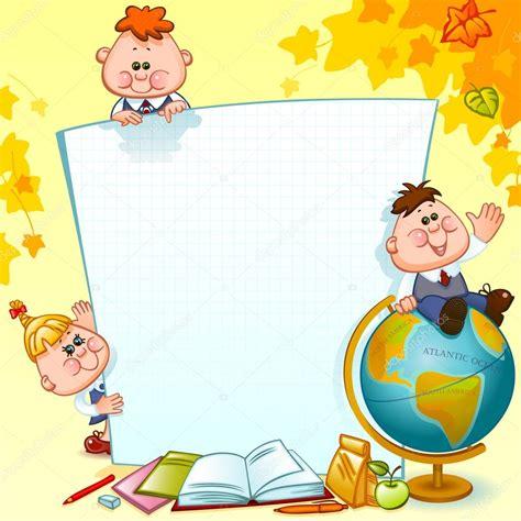 frame with school children stock vector 169 usikova 72407861