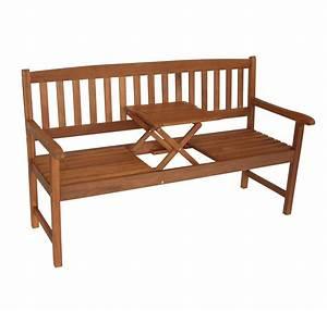 Holzbank Mit Tisch In Der Mitte : elegante sitzbank saigon mit klapptisch eukalyptusholz fsc zertifiziert ebay ~ Whattoseeinmadrid.com Haus und Dekorationen