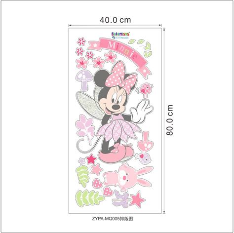 beautiful minnie mouse wall decals sticker vinyl mural diy
