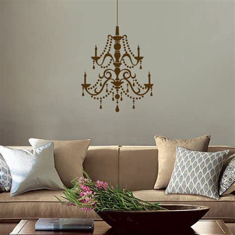 fancy chandelier vinyl wall decals