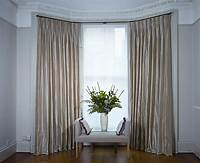 curtains for bay windows Dressing Bay Windows with Curtains and Blinds.