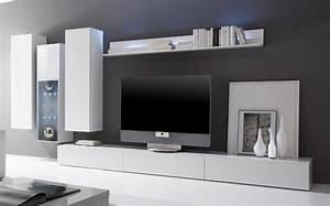 Moderne Wohnwand Hochglanz : moderne wohnwand weiss hochglanz hause deko ideen ~ Sanjose-hotels-ca.com Haus und Dekorationen