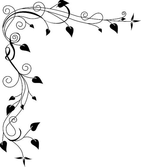vector graphic border flower grass plant