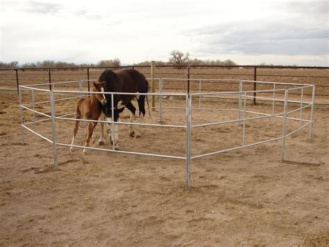 horse corral portable horses corrals fence panels travel camping trailer fencing riding pipe rodeo trail arena go stall livestock equine