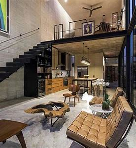 Industrial And Minimal Designed Loft Space