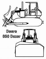 Coloring Bulldozer Deere Sun Coloringsun sketch template