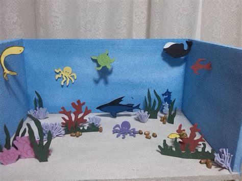 como hacer una maqueta de un ecosistema acuatico pin by