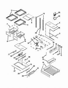 Shelf Parts Diagram  U0026 Parts List For Model Kfis29bbms02