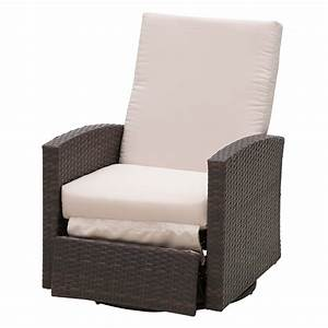 Outsunny, Outdoor, Rattan, Wicker, Swivel, Recliner, Lounge, Chair, With, Water, Uv, Fighting, Material, And