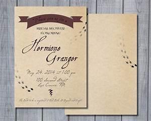 harry potter invitation templates cloudinvitationcom With harry potter wedding invitations template