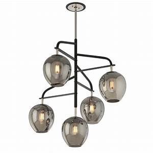 Troy lighting odyssey light carbide black and polished