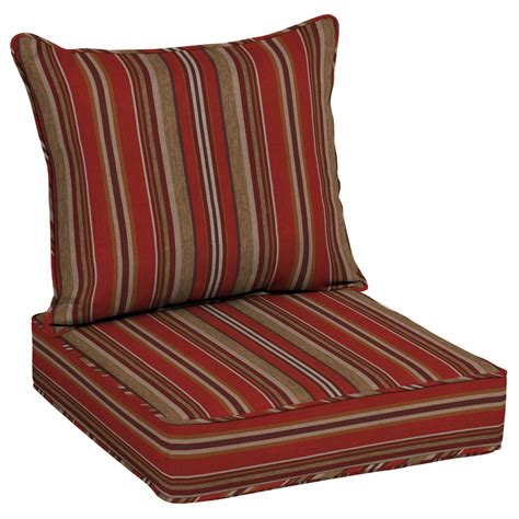 allen roth  piece priscilla stripe red deep seat patio