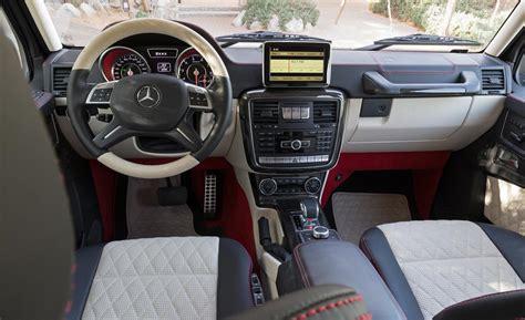 mercedes benz g class 6x6 interior car and driver