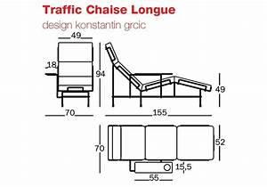 Dimension Chaise Standard : traffic chaise longue magis milia shop ~ Melissatoandfro.com Idées de Décoration