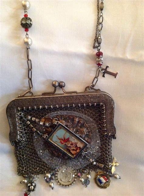 coin purse necklace images  pinterest vintage