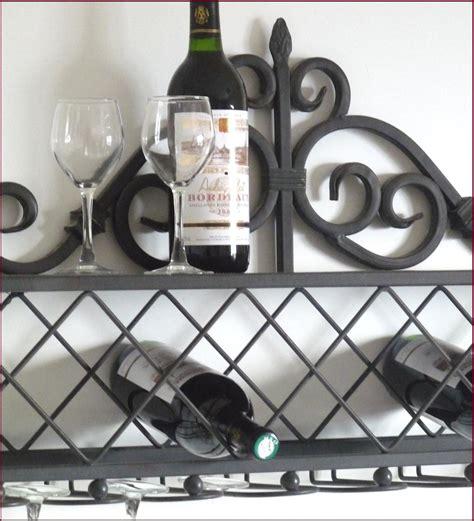 etagere console porte bouteille verre cave a vin bar de cuisine mural en fer ebay
