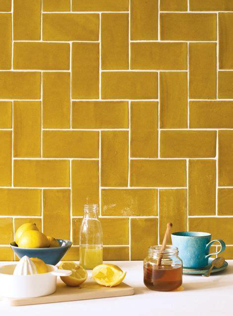earthier mustard yellow tiles