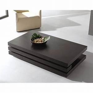 Table Basse Bois Rectangulaire : table basse bois design rectangulaire ~ Teatrodelosmanantiales.com Idées de Décoration