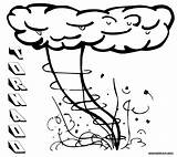 Tornado Coloring Pages Colouring Print Colorings sketch template