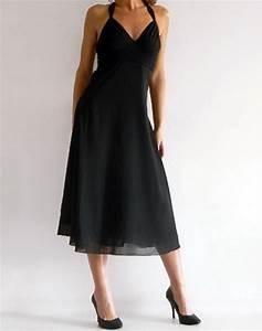 robes noires mi longues With robe évasée mi longue