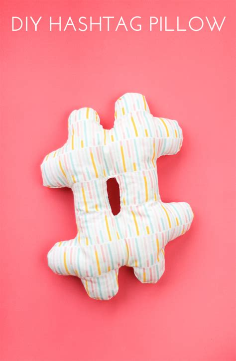 diy hashtag pillow   craft   day