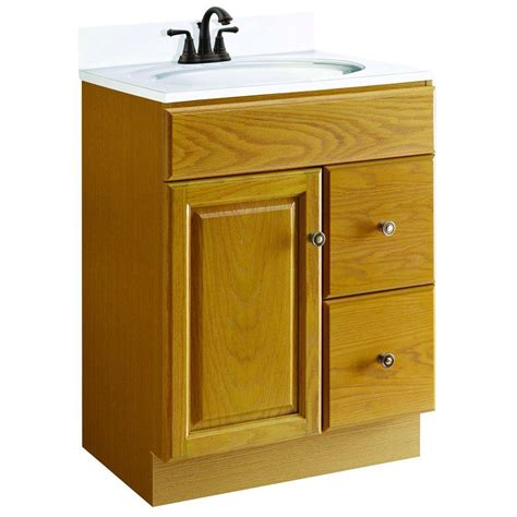 Home Depot Oak Bathroom Cabinet by Design House Claremont 24 In W X 18 In D Unassembled