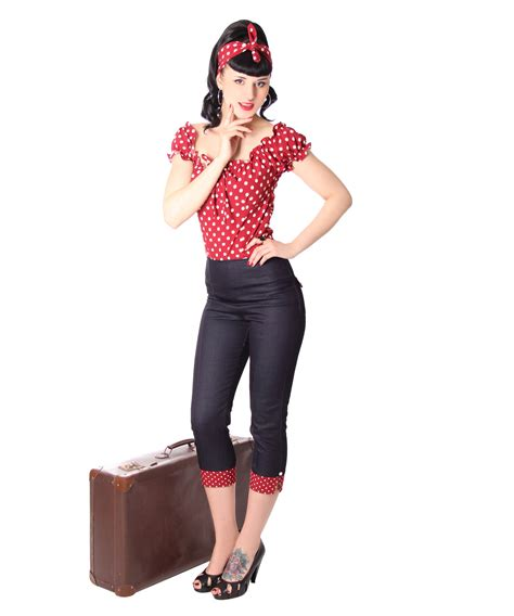 50er Jahre by Kalea 50er Retro Pin Up High Waist Polka Dots