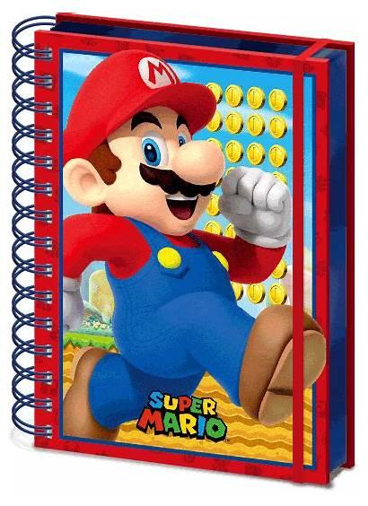 Mario Notebook Nintendo Lenticular