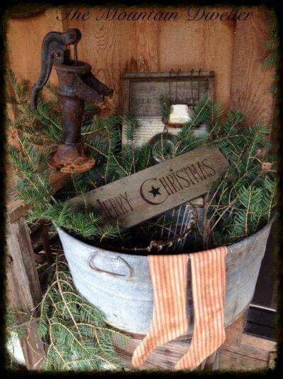 Primitive Christmas Decoration Pinterest