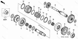 Honda Atv 2004 Oem Parts Diagram For Reverse Gear
