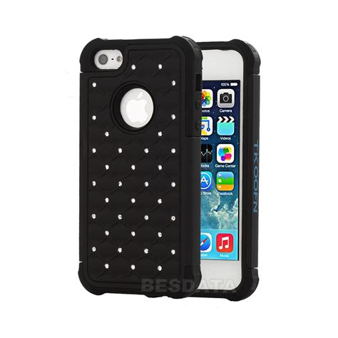 3d cases for iphone 5c for iphone 5 5s 5c heavy duty soft hybrid 3d bling