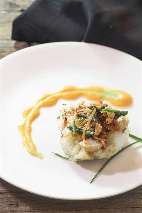 grouper stuffed lobster bacon recipe horseradish binkysculinarycarnival
