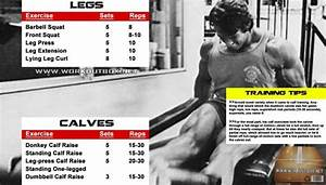 Arnold Legs And Calves Workout Routine - Schwarzenegger Training