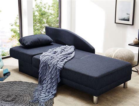 Recamiere 149x90 Cm Dunkelblau Ottomane Schlafsofa Couch