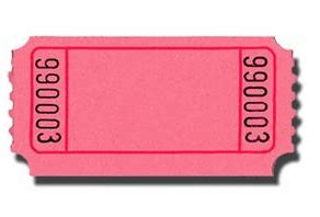 ticket stub template pink and blue pink blank carnival tickets 20 tickets