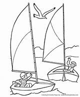 Pages Coloring Boat Boats July 4th Sailing Sailboat Printable Voilier Sail Clipart Drawing Coloriage Printables Sheets Dessin Fourth Colorier Activities sketch template