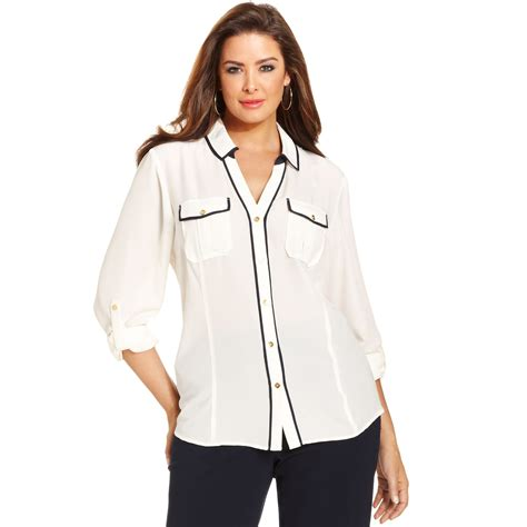 jones of york blouses jones york collection plus size longsleeve utility