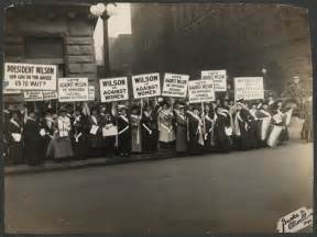 Women's Suffrage Protest Signs